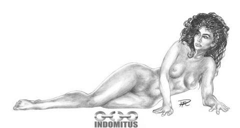 Corinna fr Samantha Dorman halvliggande nakenstudie render resize