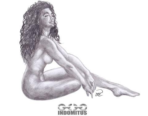 Corinna from Samantha Dorman nude sitting side sittande nakenstudie render resize