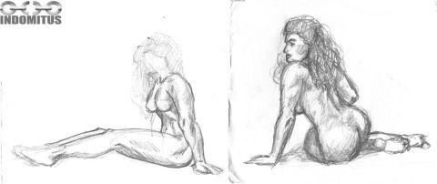 Corinna Utkastskisser kroppsstudier sittande resize