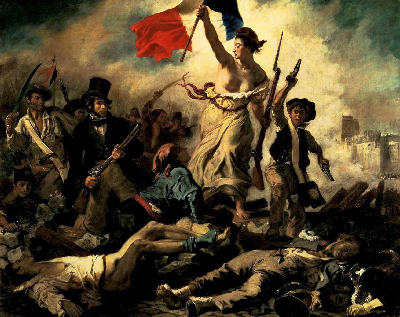 Eugene Delacroix - La Liberte - Marianne