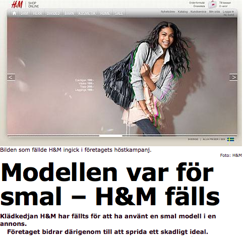 HM Modell fälls artikel