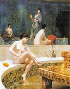 Jean Leon Gerome the harem bathers