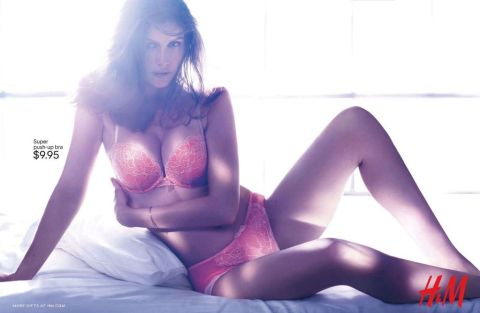 Laetitia Casta Laetitia Casta H&M lingerie collection F_W 2012_13 01