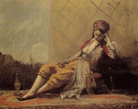 """""""Odalisque"""" av Jean-Baptiste Camille Corot"""