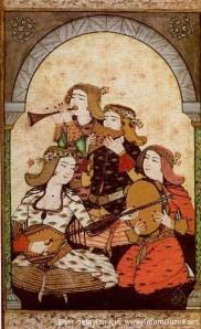 Osmanska odalisker, turkisk 1500-talsmålning