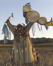 Böge mongolian shaman