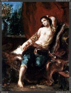 Eugene Delacroix Odalisque_1857