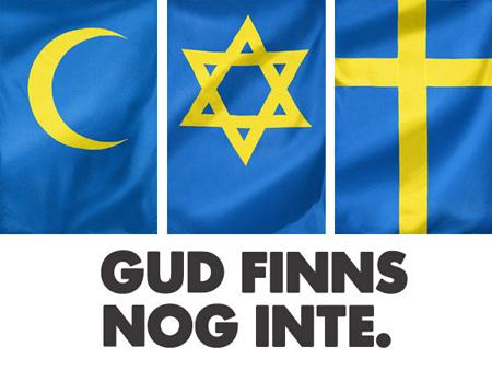 Gud finns nog inte 090610 Swedish Atheist Bus Campaign Humanisterna