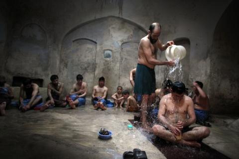 Även män besökte regelbundet Hammam