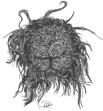 Kashar - Ny design fyrdelat huvud med demoniskt ögongytter