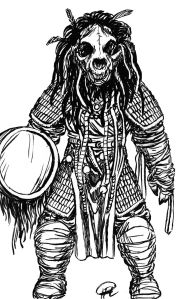 Kashar design mongol böge shaman m trumma & jättebjörnskalle resize