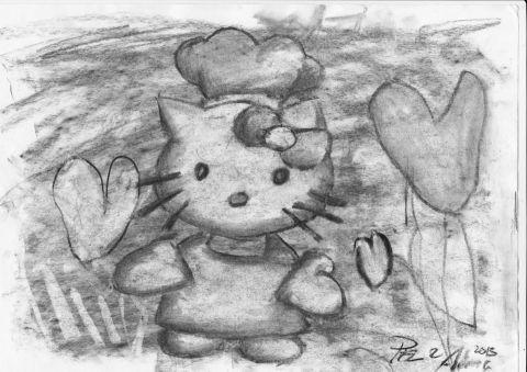 Kolteckning Hello Kitty Pablo & Alma 20130213 resize