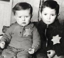 Jewish children bearing the yellow star of David