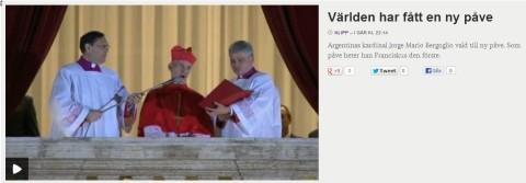 TV4 - Världen har fått en ny Påve 20130313
