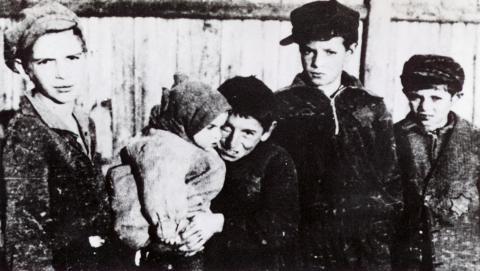 Warsaw Ghetto Children barn Förintelsen