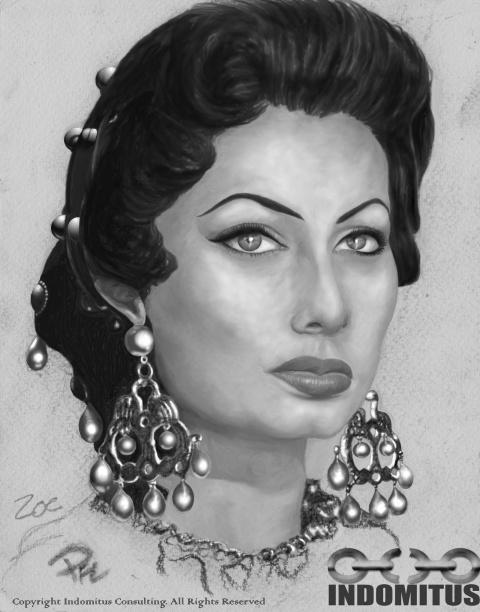 Zoe from Sophia Loren kol charcoal smetad stomf publ
