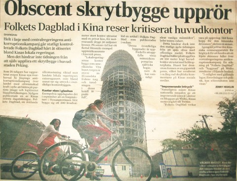 Obscent Skrytbygge Folkets Dagblad Kina penisformat hus