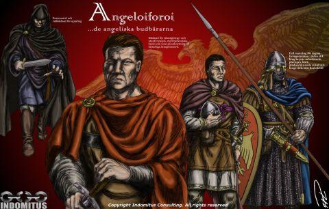 Angeloiforoi bysantinska krigare Angeliska Budbärare klädedräkter + rustning byzantine warriors färgcopy resized