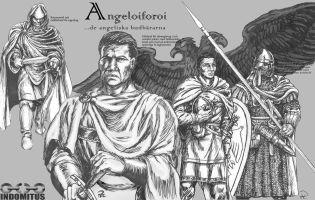 Angeliaforoi - tuschteckning monterad