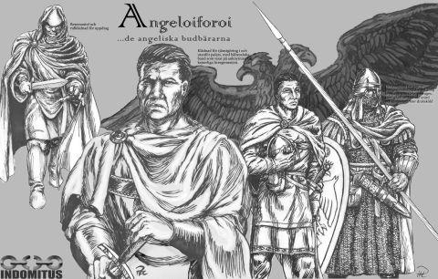 Angeloiforoi bysantinska krigare Angeliska Budbärare klädedräkter & rustning byzantine warriors resized copy