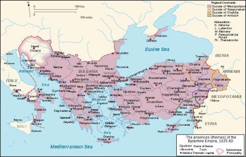 Byzantine_Empire_Themes_1025 bysantinska riket