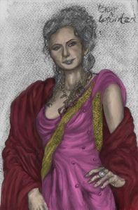 Eleni Loforitza kol b&w smetad färg resize byzantine bysantinsk stola tunika