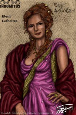 Eleni Loforitza färglagd och renderad