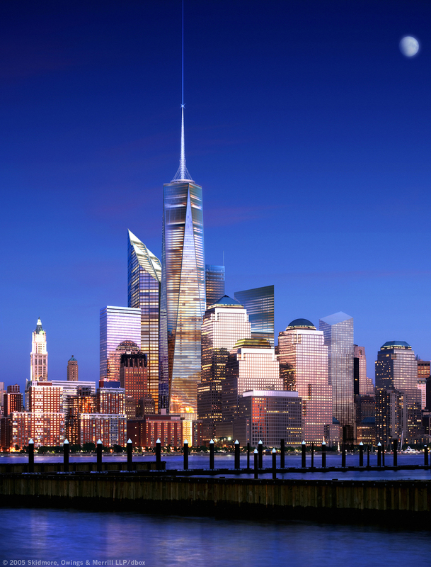 Freedom Tower 541 m view city view