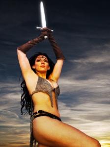 kristen nedopak fight class promo chain mail bikini  01