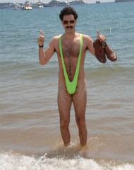 Mankini-borat-neon green swimsuit
