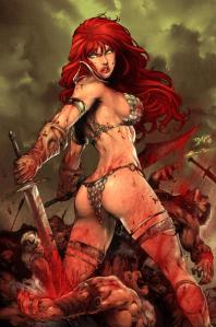 Red Sonja Comic Hotties metal bikini