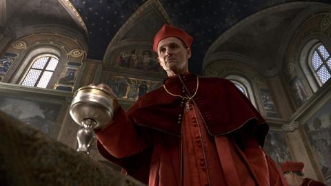 Colm Feore är Kardinal Della Rovere - Borgias dödsfiende
