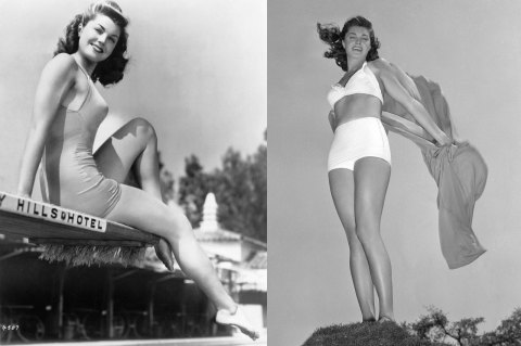 Esther Williams bathing suit baddräkt 1945 & bikini 1942