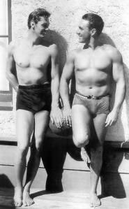 Johnny Weissmuller + George O'Brien