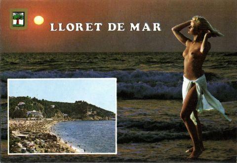 Lloret del Mar, Barcelona 1970 topless bathing