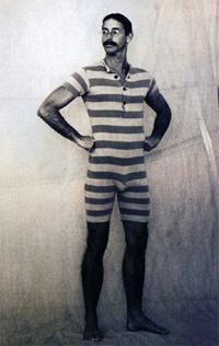 Mens bathsuit early 1900s