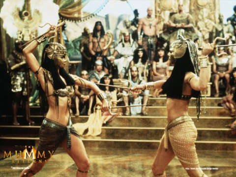 the mummy returns girl fight Patricia Velasquez Rachel Weisz