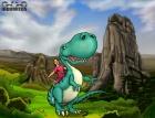 Prins Albin & Dina Dinosaurien färg monterad