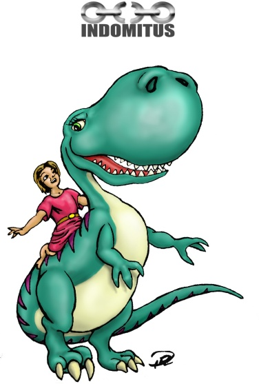 Prins Albin rider Dinosaurie