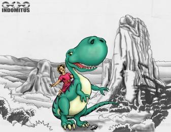 Prins Albin & Dinosaurien + tecknad bakgrund