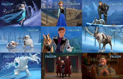 """Karaktärer i """"Frost"""""""