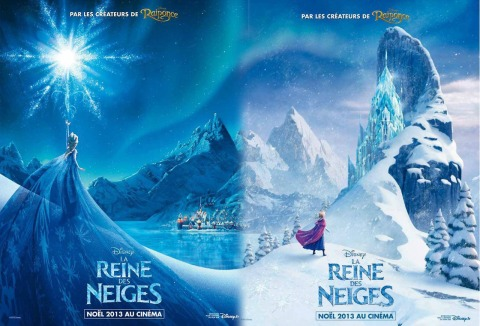 frozen -disney french double poster
