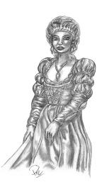 Julia i renässansklänning 1