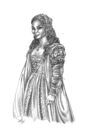 Prinsessan Julia - design för renässansklänning