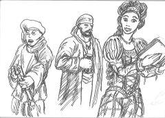 Skisser Renässanskläder Medeltidsveckan