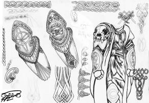 Alla Drabbningars Moder Utkast Yakanes Rustnings Detaljer