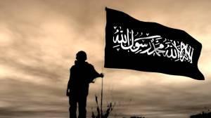 islamic flag sunset