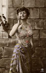 Bellydance erotic card ca 1900