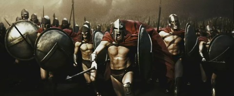 300 movie spartans attack