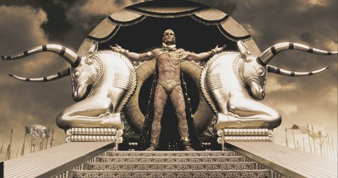 300 Xerses on throne Rodrigo Santoro
